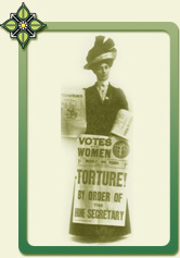 Vida Goldstein as lobbyist and protestor to obtain female suffrage